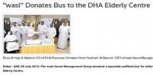 """wasl"" Donates Bus to the DHA Elderly Centre"