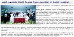 wasl supports World Cancer Awareness Day at Dubai Hospital