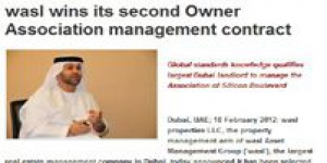 wasl wins its second Owner Association management contract